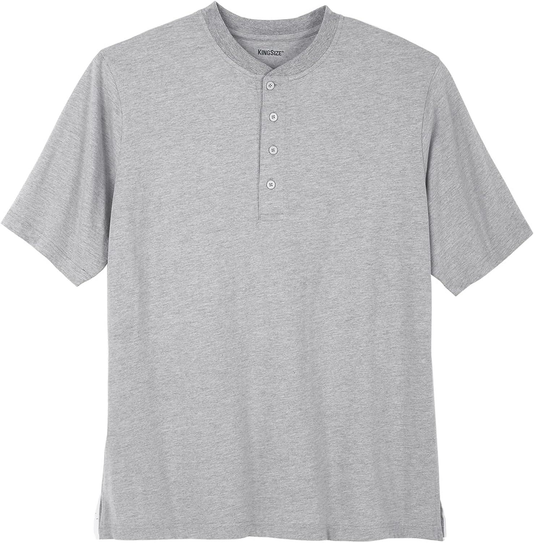 KingSize Men's Big & Tall Shrink-Less Lightweight Henley T-Shirt Henley Shirt