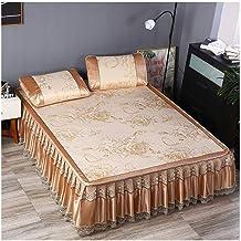 Summer Cooling Sleeping Mat, Ice Silk Air Conditioning Mat Ice Silk Summer Bed Linen Pillowcase Three-Piece Folding Bed Sk...