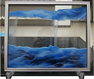 sand and water art in frame