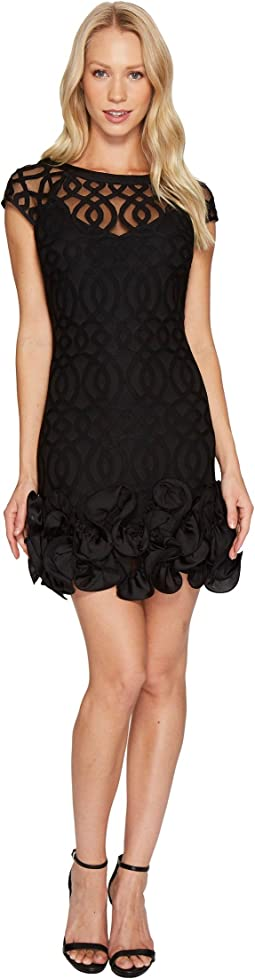 Ruffle Bottom Lattice Dress