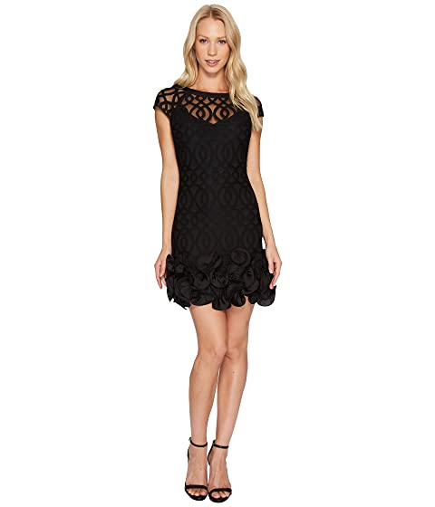 Free Shipping Get Authentic Sast Online Jessica Simpson Ruffle Bottom Lattice Dress Black Outlet Store Cheap Price Footlocker Cheap Price Sale 2018 TNIiD9x