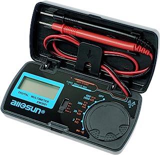 allsun Manual Range Digital Multimeter Mini 6 Functions Handheld Folding Digital Multimeter 3-1 2 Digit Pocket DMM DC/AC V...