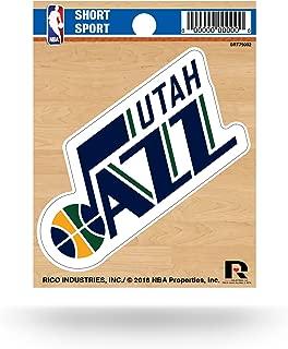 Rico Industries NBA Utah Jazz Die Cut Team Logo Short Sport Sticker