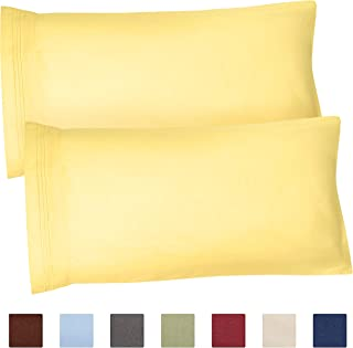 King Size Pillow Cases Set of 2 – Soft, Premium Quality Hypoallergenic Pillowcase Covers – Machine Washable Protectors – 20x40, 20x36 & 20x48 Pillows for Sleeping 2 PC - King Size Pillow Cover Bedding