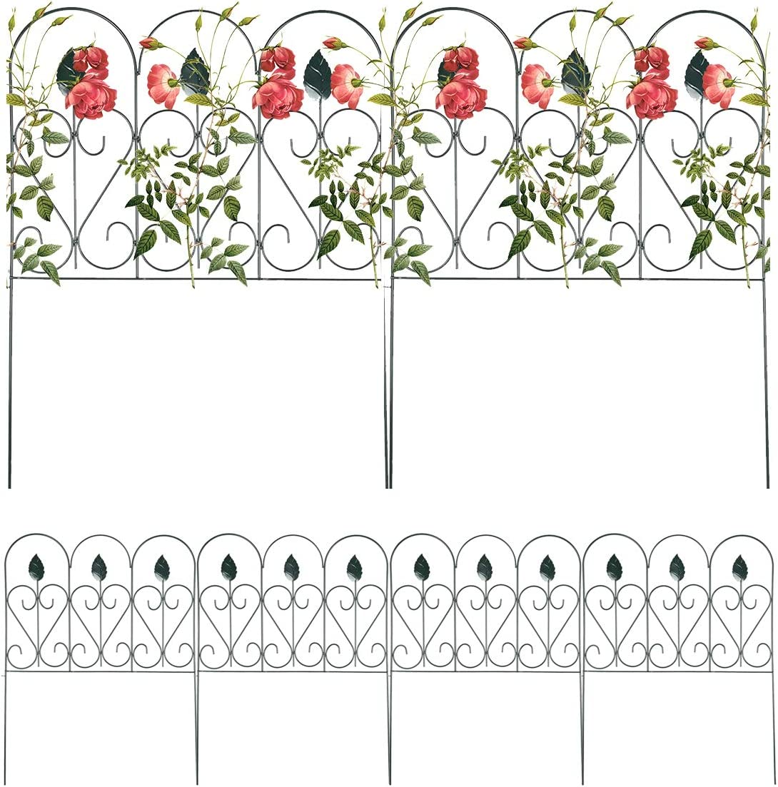 Mr.Garden Fencing 67% OFF of fixed price for Yard Super intense SALE Wrought Iron Barrier Fence 7PA Panels