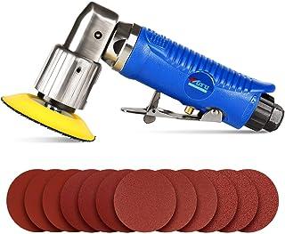 SPTA 80mm Lijadora Angular neumática Lijadoras excéntricas, lijadora de aire pulidora para el trabajo del cuerpo automático, armarios, muebles, con 3
