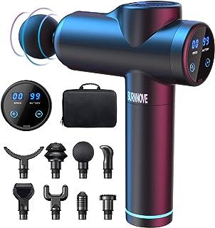 BURNNOVE Pistolet de Massage Musculaire Masseurs Électriques Portables Masseur de Muscle Profond 99 Vitesses 2550mAh 3300 ...