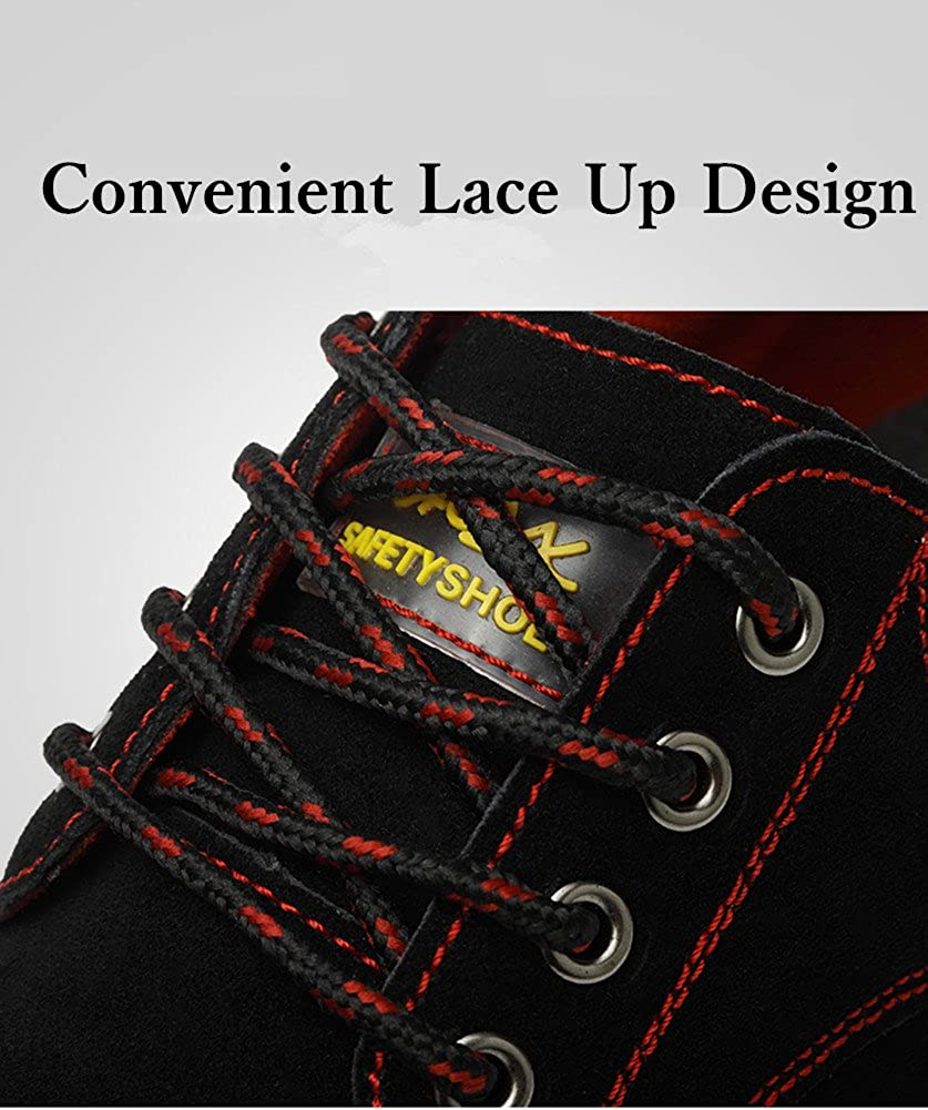 Steel Toe Safety Shoes For Men Unisex Non-slip Lightweight Composite Toe Working Shoes Footwear