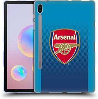 Official Arsenal FC Away 2017/18 Crest Kit Soft Gel Case Compatible for Samsung Galaxy Tab S6 (2019)
