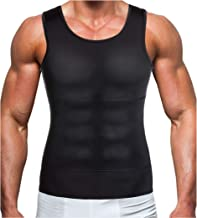 Gotoly Men Compression Shirt Shapewear Slimming Body Shaper Vest Undershirt Weight Loss Tank Top