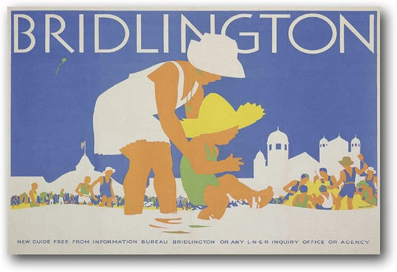 RNIMA Free shipping / New Tom Purvis Artist Poster Wall Canvas Print Max 83% OFF Bridlington Art