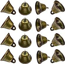Maydahui 20PCS Bronze Small Jingle Bells Vintage Brass Color Mini (1.7 X 1.5 inch) for Wedding, Doors, Dog Collar, Jewelr...