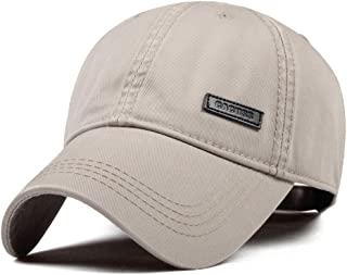 CACUSS Men`s Cotton Classic Baseball Cap Adjustable Buckle Closure Dad Hat Sports Golf Cap