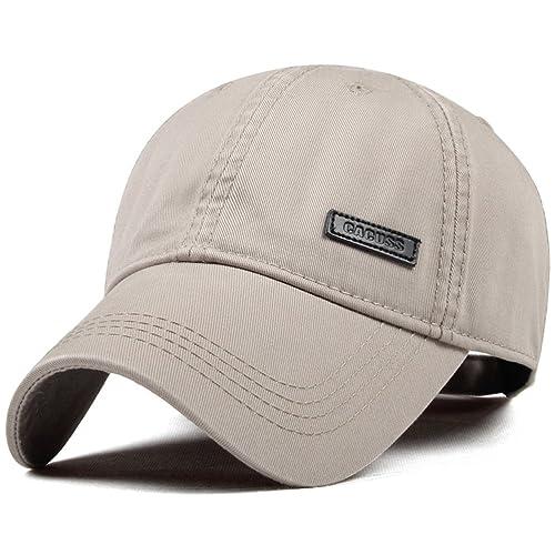 74ae019c CACUSS Men's Cotton Dad Hat Classic Baseball Cap with Adjustable Buckle  Closure,Golf Cap