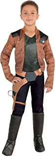 Costumes USA Solo: A Star Wars Story Han Solo Costume for Boys, Includes a Jumpsuit, a Belt, and Boot Covers