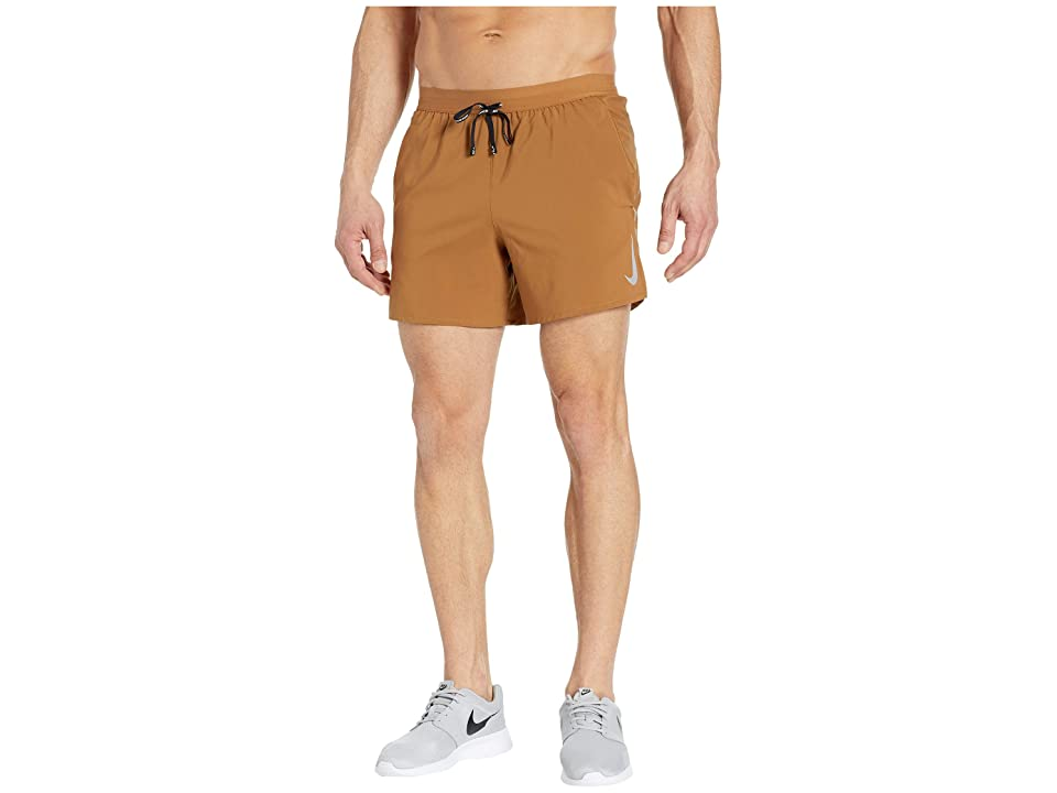 Nike Flex Stride Shorts 5 BF (Ale Brown/Metallic Silver) Men