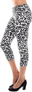 Bozzolo Womens Leopard Print Cropped Capri Light Leggings