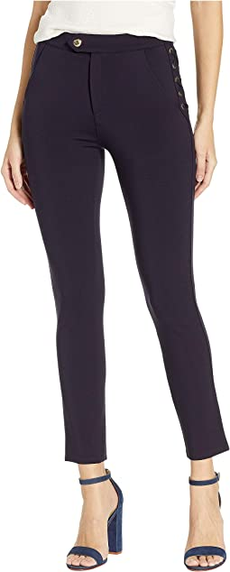 Knit Lace-Up Ponte Pants