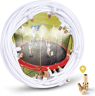 """HOMENOTE Misting Cooling System 92FT (28M) Misting Line + 28 Brass Mist Nozzles + a Metal Adapter(3/4"""") Outdoor Mister Patio Garden Greenhouse Trampoline for Water Park"""