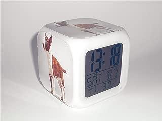 Boyan Led Alarm Clock Bull Terrier Dog Animal Design Creative Desk Table Clock Glowing Electric Led Digital Alarm Clock Kids Toy Gift
