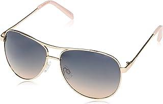 Women's J106 Stylish UV Protective Metal Aviator Sunglasses | Wear All-Year | The Gift of Glam, 60 mm