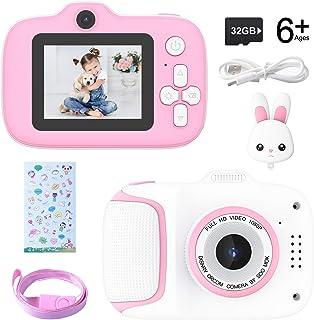 Kecow Appareil Photo pour Enfants Jouet pour Enfants Appareil Photo numérique pour Enfants Écran HD de 2 Pouces 1080P avec...
