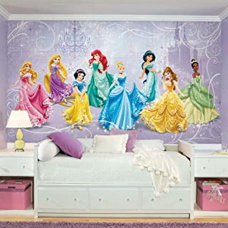 RoomMates JL1280M Disney Princess Royal Debut Water Activated Removable Wall Mural-10.5 x 6 ft, Multicolor