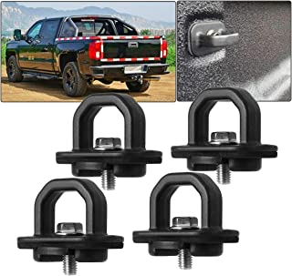 Samlight Truck Bed Side Wall Anchors 4 PCS 1000 Pound Tie Down Anchors Capacity Fit for 2007-2018 Chevy Silverdo GMC Sierr...