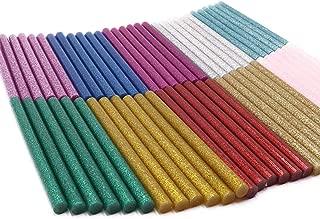 LGEGE 60 Pcs 10 Colors Hot Glue Gun Sticks Hot Melt Adhesive Glue Sticks Mini Glitter for DIY Art Craft 7mm Diameter 10cm Length