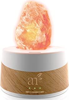 ArtNaturals Essential Oil Diffuser and Salt-Lamp - (4 Fl Oz - 120ml Tank) - 2 in 1 Authentic Pure Pink Himalayan Rock Salt Lamp from Pakistan with Aromatherapy Diffuser for Sleep and Relaxing