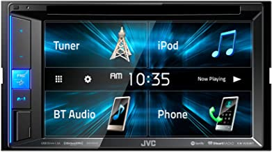 "JVC KW-V250BT Multimedia Receiver Featuring 6.2"" WVGA Clear Resistive Touch.."