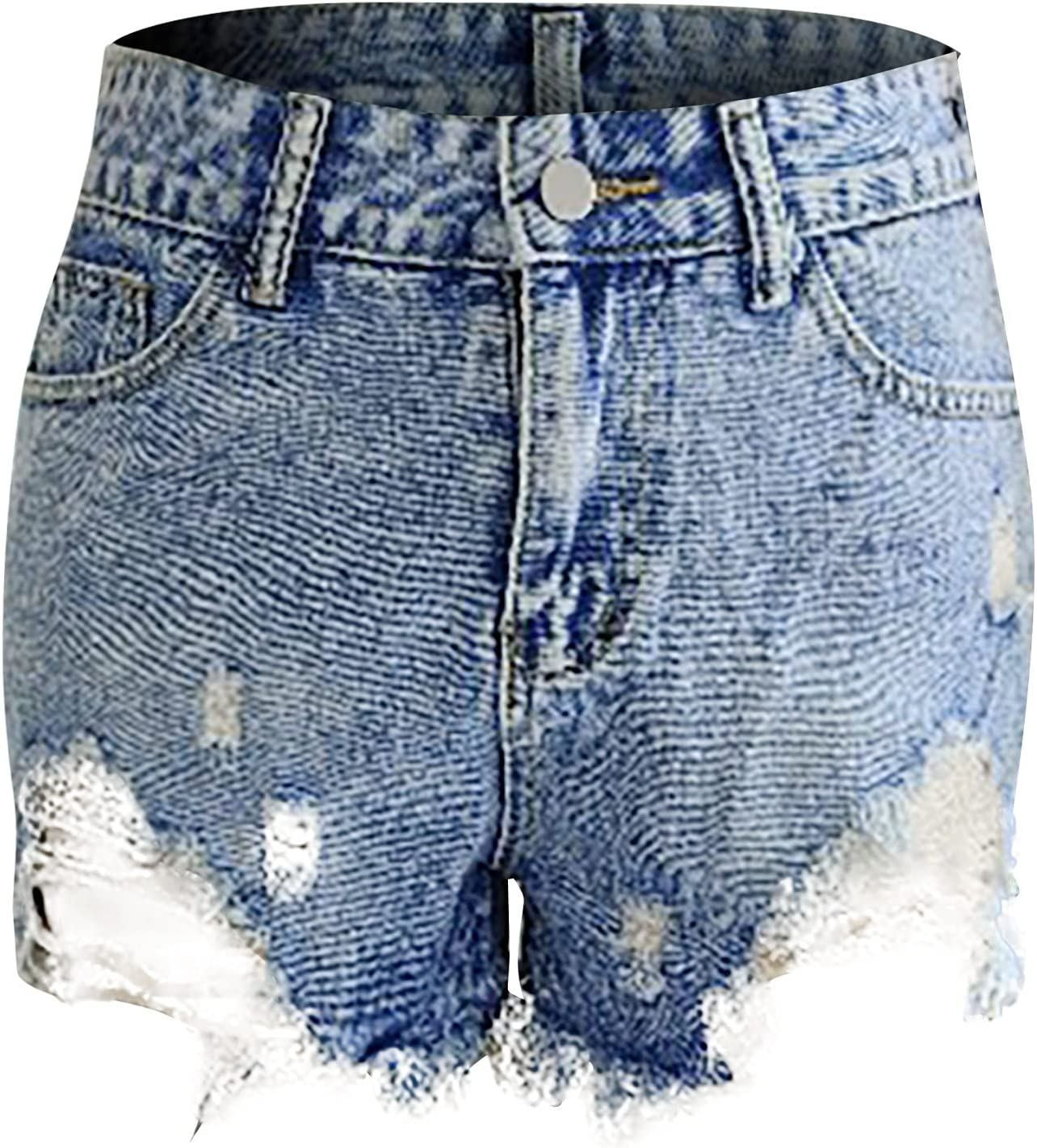 Women's Ripped Denim Jean Shorts High Waisted Stretchy Short Jeans Cut Off Denim Shorts Distressed Hot Shorts