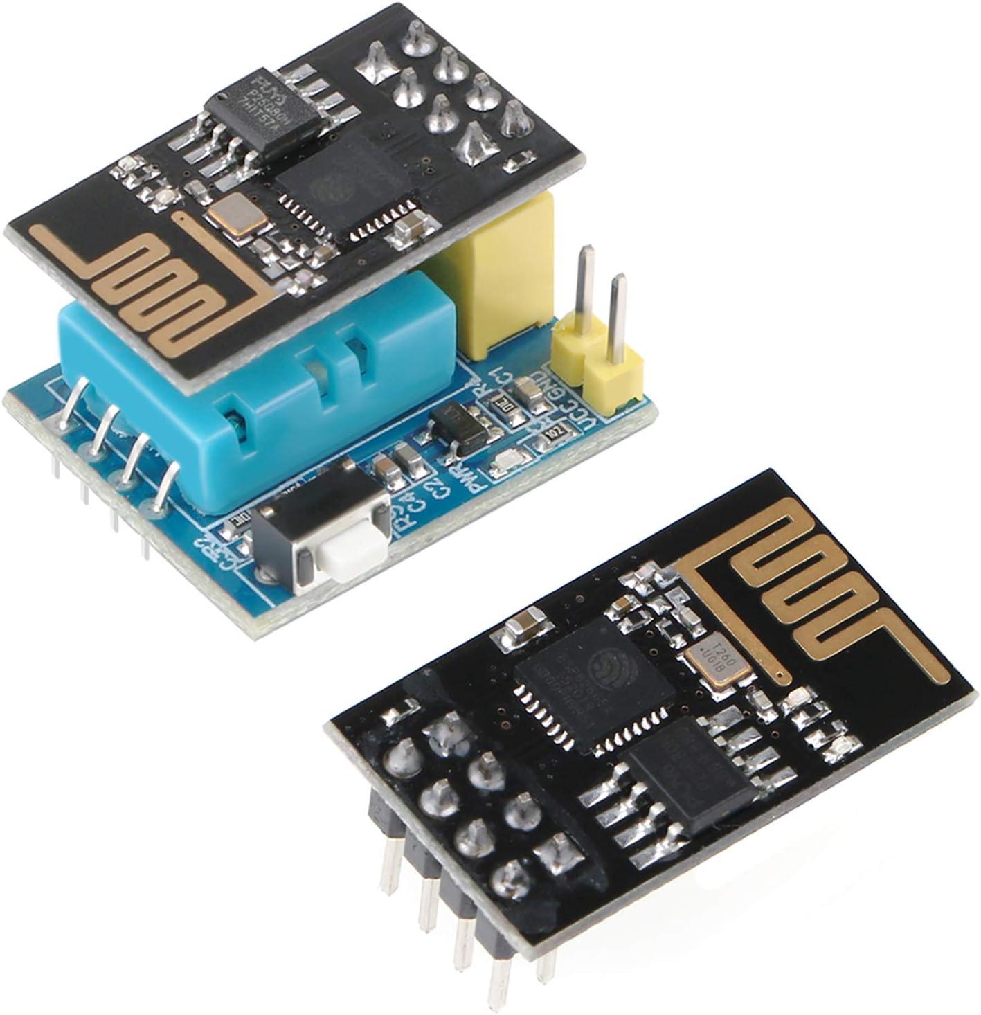 MakerFocus 2pcs Max 56% Houston Mall OFF ESP8266 ESP-01 Transceiver Serial Wireless WiFi