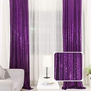 TRLYC Pailletten Hintergrund, Pailletten Hintergrund, Fotohintergrund, Pailletten Vorhang, Violett, 2 x 2 m