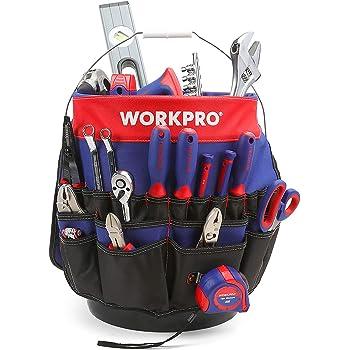 bolsa de transporte grande organizador de llaves port/átil para artesan/ías y reparadores Organizador de herramientas Hense grande para herramientas enrollables