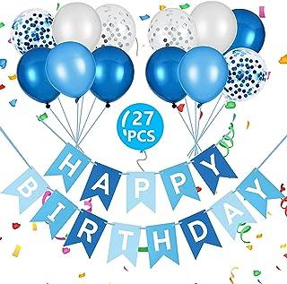Vicloon Banner di Compleanno,Banner di Palloncini di Buon Compleanno Palloncini in Lattice Forniture per Feste di Complean...