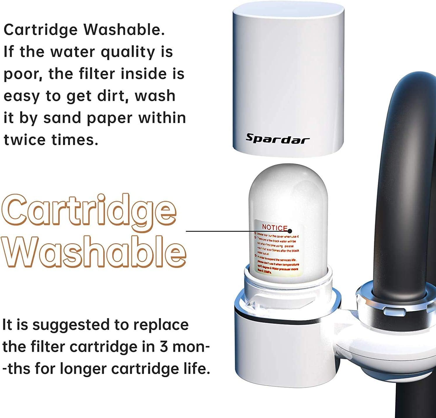 purificateur deau Convient aux robinets standard paquet de 2 cartouches filtrantes syst/ème de filtration deau pour robinet de cuisine avec mat/ériau ultra absorbant Filtre /à eau pour robinet