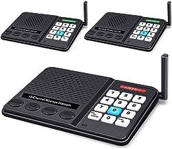 Intercoms Wireless for Home - GLCON Wireless Intercom 1 Mile Long Range 10 Channel 3 Code - Room to Room Home Intercom Sys...
