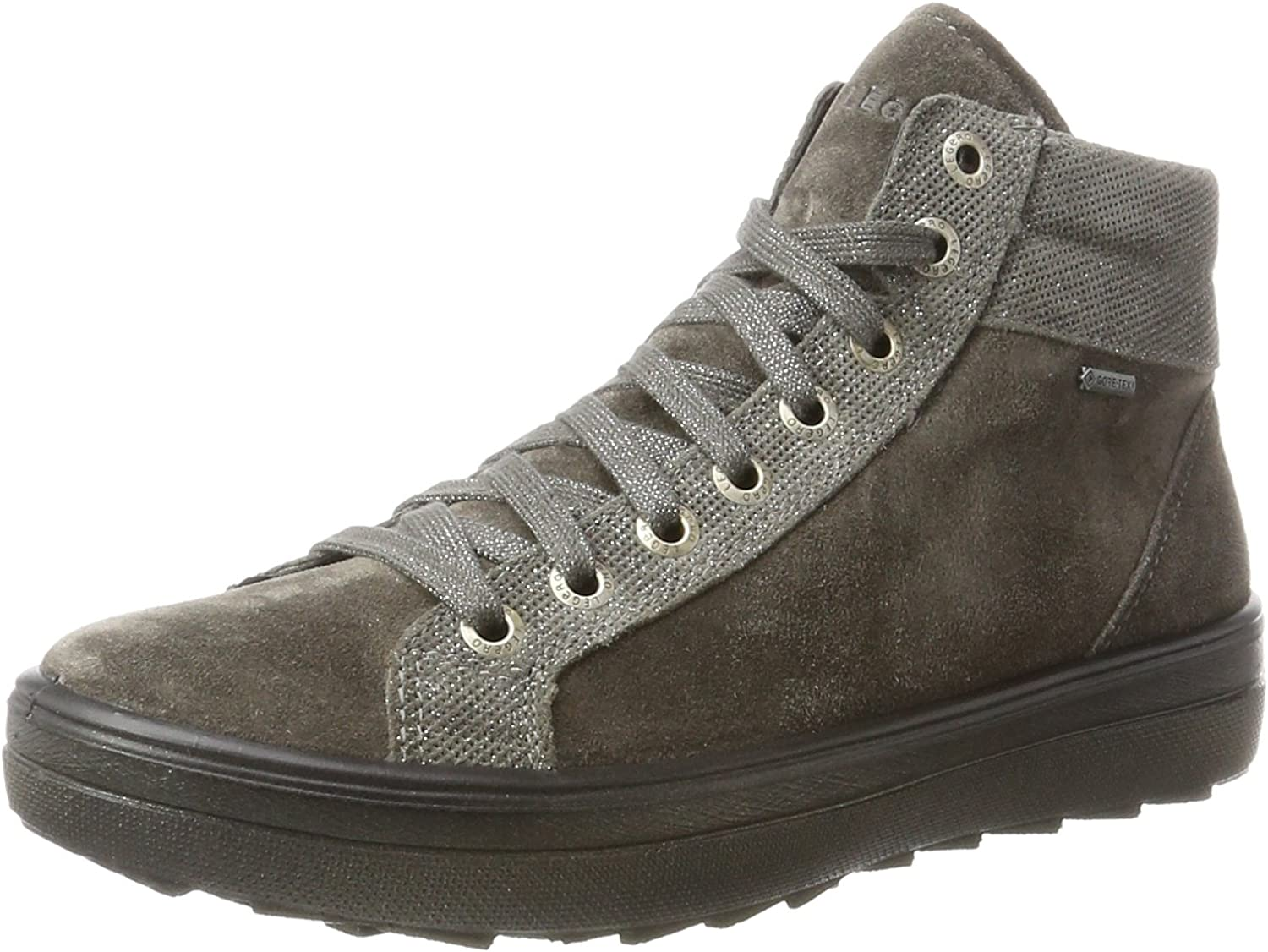 Legero Women's Mira Hi-Top Trainers, Grey (Stone 94), 5.5 UK