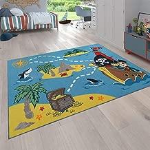 Enfants Tapis Flachflor Kids bateau de pirates carreau-Motif Beige Pour Chambre Enfant