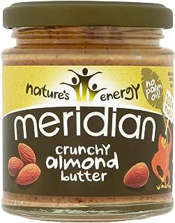 Meridian Foods Mantequilla de Almendras Crunchy, 6 x 170 g