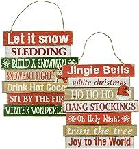 Christmas Decoration Wood Sign, Let It Snow (Let It Snow)/Jingle Bells