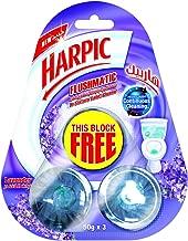 Harpic Toilet Block In the Cistern Flushmatic, Lavender 50g, 2+1 Free