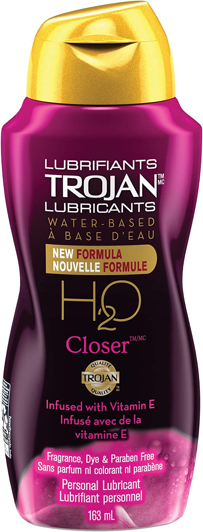 Image of TROJAN H20 Closer Water-based- Personal Lubricant- 163-ml