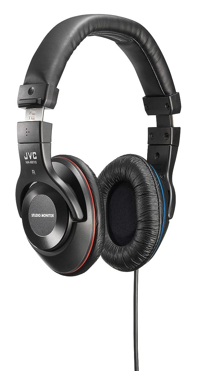 ネイティブ各ライセンスJVC HA-MX10-B 密閉型ヘッドホン スタジオモニター ブラック