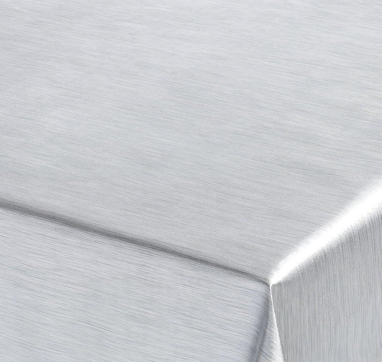 WACHSTUCH TISCHDECKE, Meterware Abwischbar, Metall Optik, Optik, Optik, SILBER, 360x137 cm, Länge wählbar, Beautex B00C2C0860 7f1158