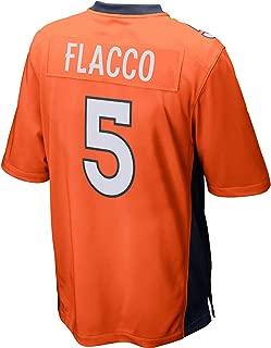 FAMWY Men's_Women's_Youth_Joe_Flacco_#5_Orange_Sportswears_Football_Tracksuits_Jersey