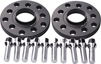 DCVAMOUS 2pcs 15mm 5x112 5x100 Hubcentric Wheel Spacers Center Bore 57.1mm with 14x1.5 Conical Seat Bolts for Audi A3 A4 A6 A8 TT S4 S6 S8, VW