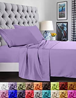 Elegant Comfort 1500 Thread Count Luxury Egyptian Quality Super Soft Wrinkle Free and Fade Resistant 4-Piece Sheet Set, Fu...