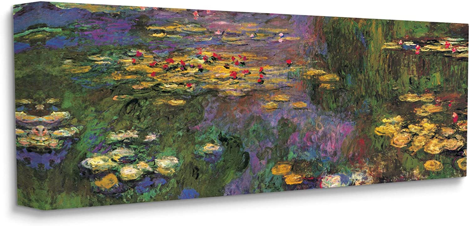 Stupell Industries Vibrant Traditional Water 日本 Lilies Painting Det 新作販売